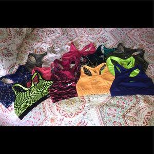 Nike sports bras (14 of them)